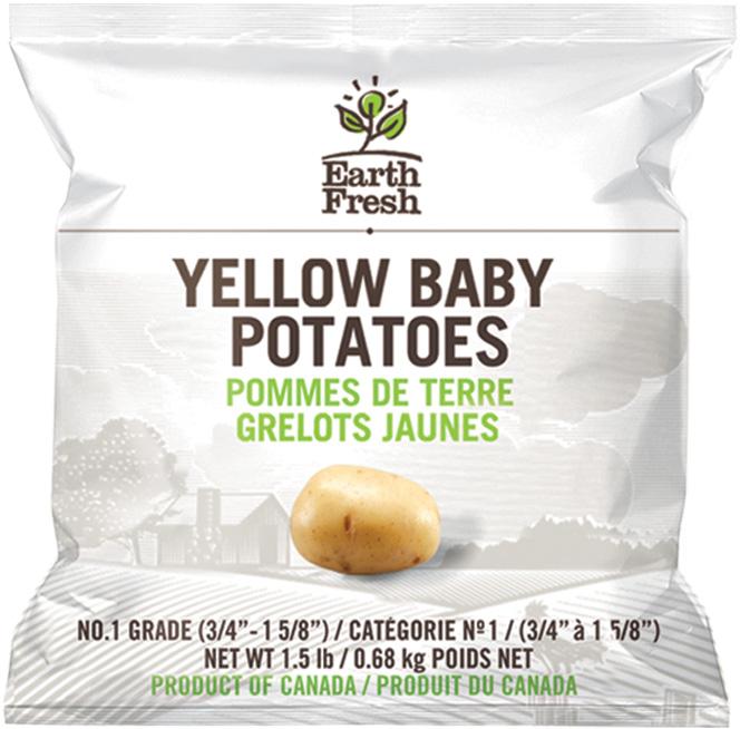EarthFresh yellow baby potatoes